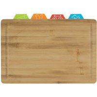 Bamboo Cutting Board with 4 Flexi Mats