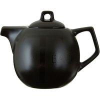 Premier Housewares Black Text Teapot