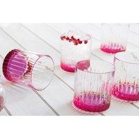 RCR 6-Piece Pink Gipsy Whiskey Glass Set