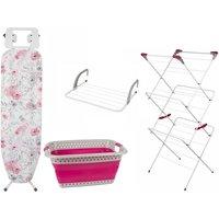 Kleeneze 4 Piece Laundry Set - Floral