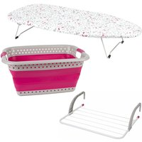 Kleeneze 3 Piece Laundry Set - Pink