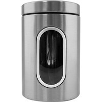 Brushed Stainless Steel Storage Canister - Silver