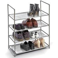 H & L Russel 4 Shelf Shoe Rack