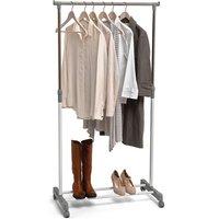 H & L Russel Clothing Rail - White