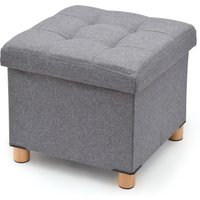 H & L Russell Ottoman - Grey