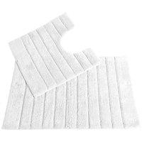 Allure Linear Rib 2 Piece Bathroom Set - White