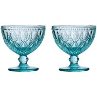 Premier Housewares Fleur Blue Sundae Dishes - Set of 2