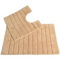 Allure Linear Rib 2 Piece Bathroom Set - Stone