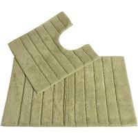Allure Linear Rib 2 Piece Bathroom Set - Sage