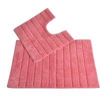 Allure Linear Rib 2 Piece Bathroom Set - Rose