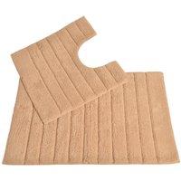 Allure Linear Rib 2 Piece Bathroom Set - Blush