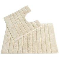 Allure Linear Rib 2 Piece Bathroom Set - Cream