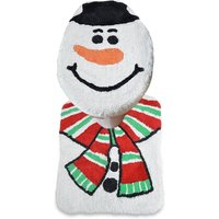 Allure Christmas Snowman 2 Piece Bathroom Set - Multi