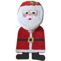 Allure Christmas Santa 2 Piece Bathroom Set - Multi