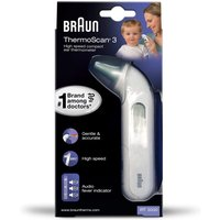 Braun IRT3030 ThermoScan 3 Infrared Ear Thermometer - White