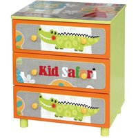 childrens safari wooden 3 drawer chest of drawers