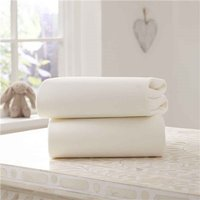 Clair De Lune Cotton Fitted Pram/Crib Sheets (2 Pack)