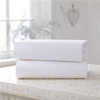 Clair De Lune Fitted Cotton Jersey Cot Bed Sheets (2 Pack)