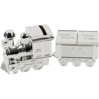 Bambino S/Plate Train Money Box and First Tooth/Curl Carriage