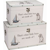 "Bambino Luggage series - Set of 2 Storage Boxes - ""Little Boys"""
