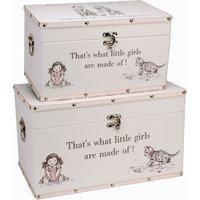 "Bambino Luggage series - Set of 2 Storage Boxes - ""Little Girls"""