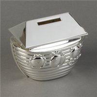 Bambino Silverplated Noahs Ark Money Box