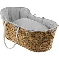Clair De Lune Sparkling Muslin Hyacinth Basket - Grey