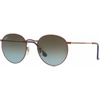 Ray-ban Round Metal Bronze Copper - Blue/brown Gra