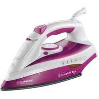 Russell Hobbs 19220 Steamglide Steam Iron in Pink 2400W Ceramic Solepl