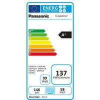 Panasonic TX58EX750B 58 4K 3D HDR UHD Smart LED TV 2400Hz Freeview Pla