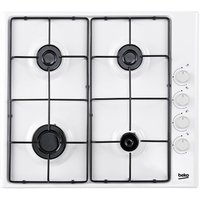 Beko CIHG21SW 60cm Built In 4 Burner Gas Hob in White