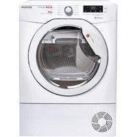 Hoover DMCD1013B 10kg Condenser Tumble Dryer in White Sensor Dry B Rat