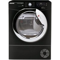 Hoover DNCD913BB 9kg Condenser Tumble Dryer in Black Sensor Dry B Rate