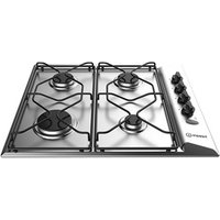 Indesit PAA642IXI 60cm Gas Hob in Stainless Steel Flame Failure Device