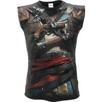 'Assassins Creed Iv Black Flag Allover Licensed Sleeveless T-shirt Black