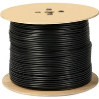 '250m Single Coax Rg6 Cable Freesat Satellite Digital Tv Copper Clad  Black
