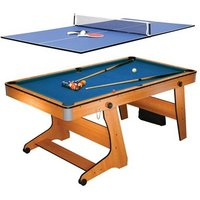 'Bce 6ft Folding Pool Table With Table Tennis Top