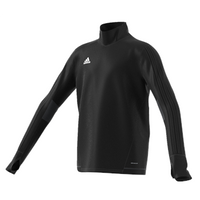 Adidas Tiro 17 Plain Training Top - Youth - Black/dark Grey/white