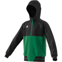 Adidas Tiro 17 Plain Presentation Jacket - Youth - Black/green