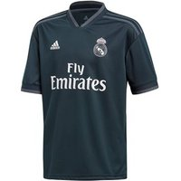 Adidas Real Madrid 2018/19 Short Sleeve Away Jersey - Youth - Tech Onix/bold Onix/white