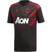 Adidas Manchester United Fc 2018/19 Home Pre Match Short Sleeve Jersey - Youth - Black/real Red