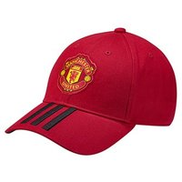 Adidas Manchester United Fc 2018/189 3 Stripe Cap - Adult - Red