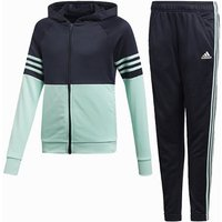 Adidas Hooded Pes Tracksuit - Girls - Navy/turq