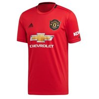 Adidas Manchester United Fc Official 2019/20 Short Sleeve Home Jersey - Adult - Real Red/black