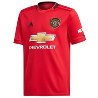 Adidas Manchester United Fc Official 2019/20 Short Sleeve Home Jersey - Youth - Real Red/black