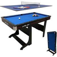 'Riley 5ft Folding Pool Table With Table Tennis Top