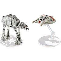 Hot Wheels Star Wars Die Cast Vehicle 2 Pack - AT-AT Vs. Snowspeeder - Geek Gifts
