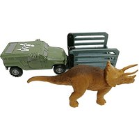 Matchbox Jurassic World Dino Transporter Vehicle and Figure - Tricera - Tracker