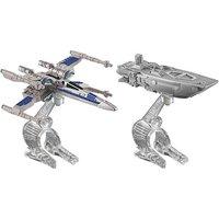 Hot Wheels Star Wars Die Cast Vehicle 2 Pack - First Order Transporter Vs. Resistance X-Wing Fighter - Geek Gifts