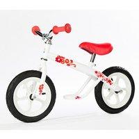 Chillafish Josie White Balance Bike Ride On with Flowers